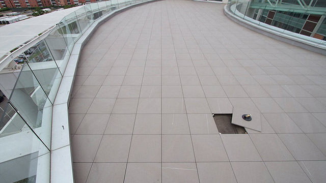 External raised flooring